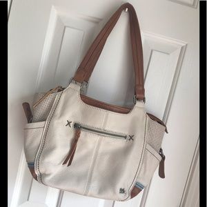 The Sak leather creme purse